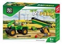 BLOCKI MyFarm Traktor z przyczepą
